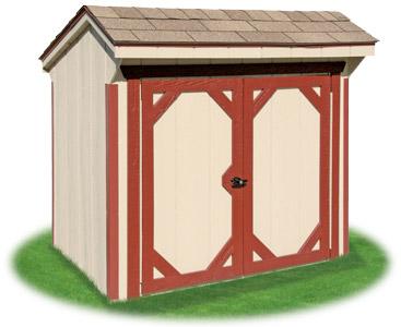 Vinyl hip roof storage shed